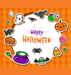 Frame with cute halloween vector