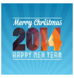 Happy new year and marry christmas vector