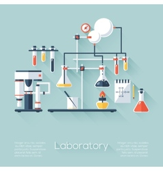 Chemistry education research laboratory equipment vector