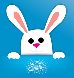Easter background with a white bunny vector