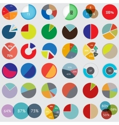 Infographic elements pie chart set icon business vector