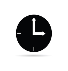 Clock black vector