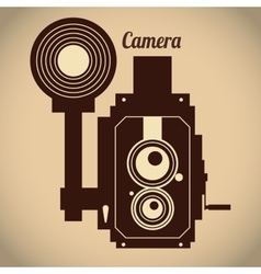 Camera equipment design vector