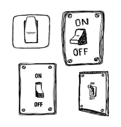 Single wall light switch vector
