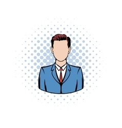 Businessman comics icon vector
