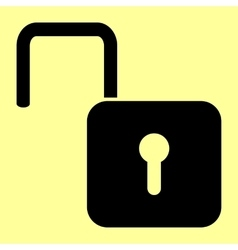 Unlock sign flat style icon vector