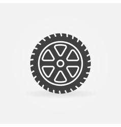 Simple car wheel icon vector