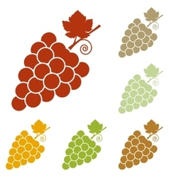 Grapes sign vector
