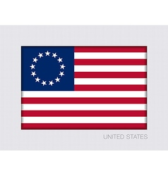 American betsy ross flag 2 to 3 vector