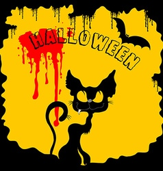 black and yellow Halloween vector image