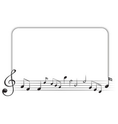 Border template with music notes vector