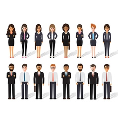 businessman and businesswoman people icon vector image vector image