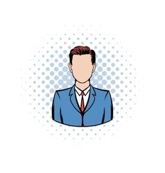 Businessman comics icon vector