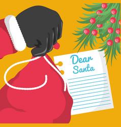 Christmas wish list design vector