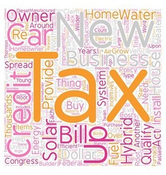Come and get it your federal tax credits text vector