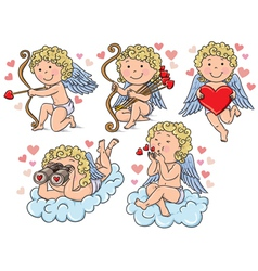 Cupids kids vector image