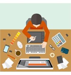 Designer management workplace vector