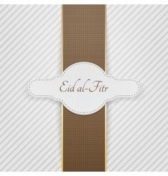 Eid al-fitr realistic festive tag vector