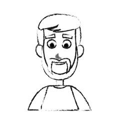 happy handsome bearded man cartoon icon image vector image vector image