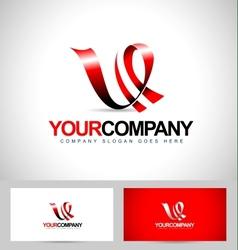 Letter V Logo design vector image vector image