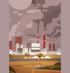 nature pollution plant pipe dirty waste air and vector image
