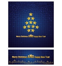 New Year and Christmas background with a gold star vector image