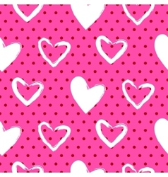 Romantic valentine seamless pattern vector