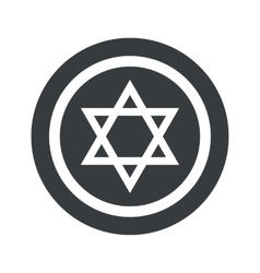Round black star david sign vector