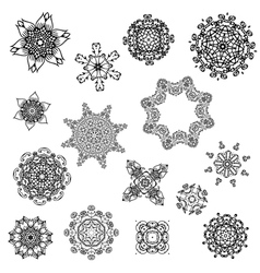 set of abstract design with arabesques vector image vector image