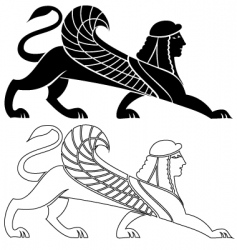 sphinx wing silhouette vector image