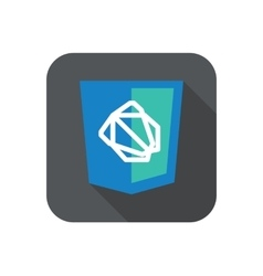 Web development shield sign - js framework vector