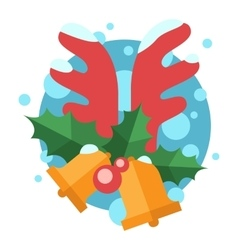 Christmas bell symbol vector image