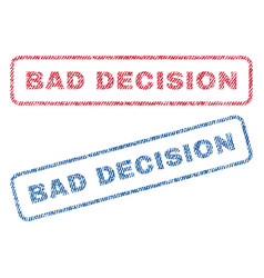 Bad decision textile stamps vector