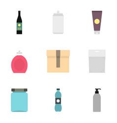 cardboard plastic metal packaging icons set vector image