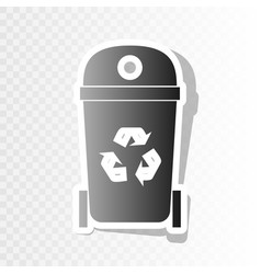 Trashcan sign   new year vector