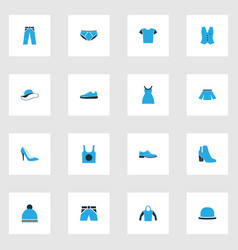 Clothes colorful icons set collection of man vector