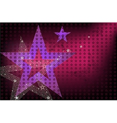 Disco Bright Background With Stars vector image