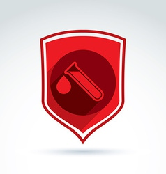 Donor blood defense icon test tube virus epidemic vector