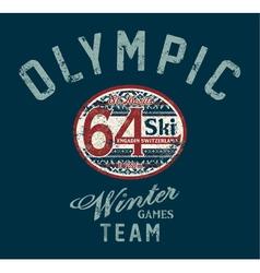 Winter ski games vector