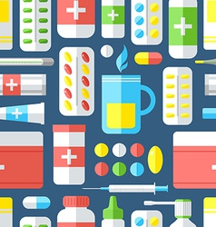 Medicines seamless pattern vector