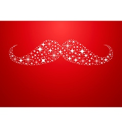 Christmas new year hipster mustache greeting card vector
