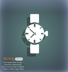 Watches icon symbol on the blue-green abstract vector