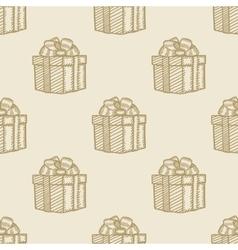 christmas gift box pattern seamless background vector image
