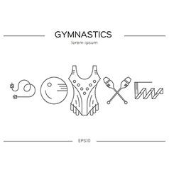 Gymnastics flyer concept vector