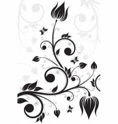 Flower scroll vector