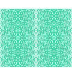 Seamless lace mint color vector