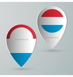 Paper of map marker for maps luxembourg vector