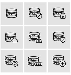 line database icon set vector image