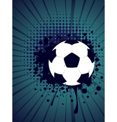 Soccer ball on rays background4 vector