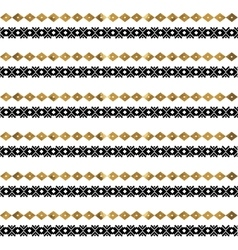 Tribal geometric gold pattern vector image